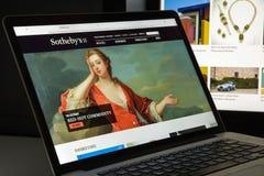 米兰,意大利- 2017年8月10日:苏富比网站 它是Briti 库存图片
