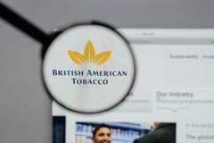 米兰,意大利- 2017年8月10日:英美烟草商标o 图库摄影