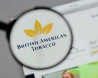 米兰,意大利- 2017年8月10日:英美烟草商标o 免版税库存图片