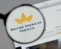 米兰,意大利- 2017年8月10日:英美烟草商标o 免版税图库摄影