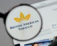 米兰,意大利- 2017年8月10日:英美烟草商标o 免版税库存照片