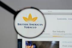 米兰,意大利- 2017年8月10日:英美烟草商标o 库存图片