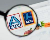 米兰,意大利- 2017年8月10日:阿尔迪网站主页 它是 免版税库存图片