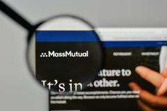 米兰,意大利- 2017年11月1日:马萨诸塞相互生活Insur 免版税库存照片