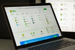 米兰,意大利- 2017年8月10日:360个网站主页 360商标v 免版税图库摄影
