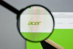 米兰,意大利- 2017年8月10日:Acer网站 它是台湾人 库存图片