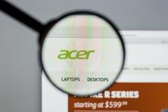 米兰,意大利- 2017年8月10日:Acer网站 它是台湾人 库存照片