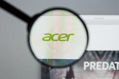 米兰,意大利- 2017年8月10日:Acer网站 它是台湾人 免版税图库摄影