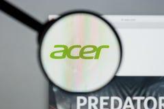 米兰,意大利- 2017年8月10日:Acer网站 它是台湾人 免版税库存图片