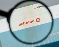 米兰,意大利- 2017年8月10日:Achmea网站主页 它是o 免版税库存图片
