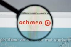 米兰,意大利- 2017年8月10日:Achmea网站主页 它是o 免版税库存照片