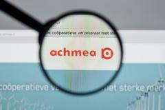 米兰,意大利- 2017年8月10日:Achmea网站主页 它是o 库存照片