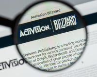 米兰,意大利- 2017年8月10日:Activision飞雪网站hom 免版税库存照片