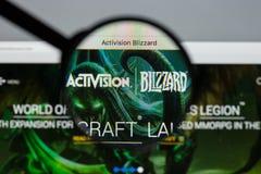 米兰,意大利- 2017年8月10日:Activision飞雪网站hom 免版税库存图片