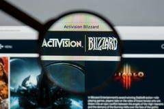 米兰,意大利- 2017年8月10日:Activision飞雪网站hom 库存照片