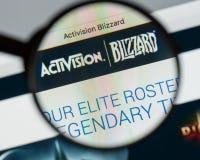 米兰,意大利- 2017年8月10日:Activision飞雪网站hom 免版税图库摄影