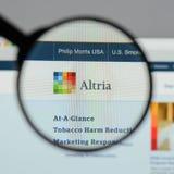 米兰,意大利- 2017年8月10日:Altria小组网站 它是A 免版税图库摄影