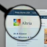 米兰,意大利- 2017年8月10日:Altria小组网站 它是A 免版税库存图片