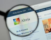 米兰,意大利- 2017年8月10日:Altria小组网站 它是A 库存图片