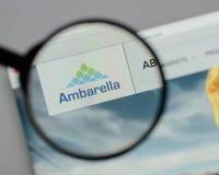 米兰,意大利- 2017年8月10日:Ambarella网站 它是devel 图库摄影