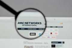 米兰,意大利- 2017年8月10日:AMC在网站上的网络商标 免版税库存照片