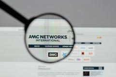 米兰,意大利- 2017年8月10日:AMC在网站上的网络商标 库存照片