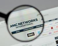米兰,意大利- 2017年8月10日:AMC在网站上的网络商标 免版税库存图片