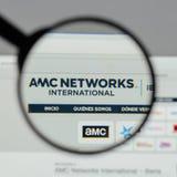 米兰,意大利- 2017年8月10日:AMC在网站上的网络商标 库存图片