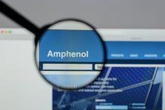 米兰,意大利- 2017年8月10日:Amphenol网站 它是少校 图库摄影