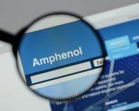 米兰,意大利- 2017年8月10日:Amphenol网站 它是少校 库存照片