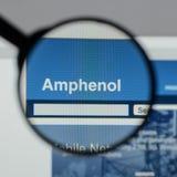 米兰,意大利- 2017年8月10日:Amphenol网站 它是少校 免版税图库摄影