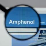米兰,意大利- 2017年8月10日:Amphenol网站 它是少校 免版税库存图片