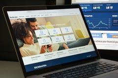 米兰,意大利- 2017年8月10日:Bankrate网站主页 它是 图库摄影