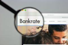 米兰,意大利- 2017年8月10日:Bankrate网站主页 它是 库存图片