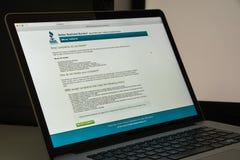 米兰,意大利- 2017年8月10日:BBB网站主页 它是没有 免版税库存图片