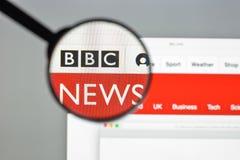 米兰,意大利- 2017年8月10日:BBC网站主页 它是增殖比 免版税库存照片