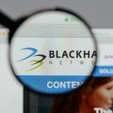 米兰,意大利- 2017年8月10日:Blackhawk网络藏品商标 免版税图库摄影