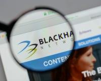 米兰,意大利- 2017年8月10日:Blackhawk网络藏品商标 免版税库存照片