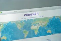 米兰,意大利- 2017年8月10日:Craigslistorg网站主页 库存照片