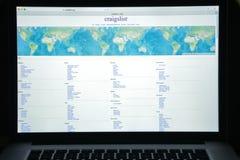 米兰,意大利- 2017年8月10日:Craigslistorg网站主页 免版税图库摄影