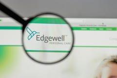 米兰,意大利- 2017年8月10日:Edgewell在t的个人照料商标 库存图片