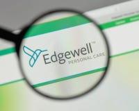 米兰,意大利- 2017年8月10日:Edgewell在t的个人照料商标 免版税库存照片