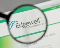 米兰,意大利- 2017年8月10日:Edgewell在t的个人照料商标 免版税库存图片