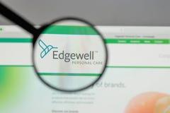 米兰,意大利- 2017年8月10日:Edgewell在t的个人照料商标 图库摄影