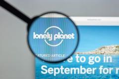 米兰,意大利- 2017年8月10日:Loney行星网站主页 我 免版税库存照片