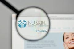 米兰,意大利- 2017年11月1日:Nu皮肤在的企业商标 图库摄影