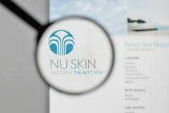 米兰,意大利- 2017年11月1日:Nu皮肤在的企业商标 免版税库存照片