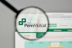 米兰,意大利- 2017年11月1日:Penn相互人寿保险商标 库存图片