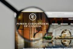 米兰,意大利- 2017年11月1日:Power Corp 在t的加拿大商标 免版税库存图片
