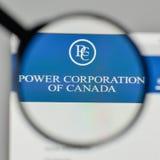 米兰,意大利- 2017年11月1日:Power Corp 在t的加拿大商标 库存图片
